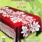 Hawaiian Tropical Fabric Tablecloth 60-inch By 84-inch (Honu Turtle and Monstera, Red color)