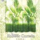 Hawaiian Tropical Fabric Shower Curtain (Fan Palm)