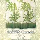 Hawaiian Tropical Fabric Shower Curtain (Lawai Fern)