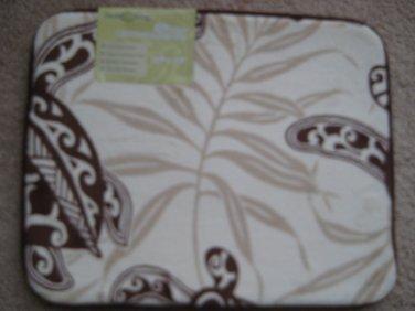 "Hawaiian Memory Foam Mat (Honu Turtle Under Seaweed) size 16x20"""