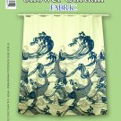 Hawaiian Tropical Fabric Shower Curtain ( Koi, Janpanese fish, Navy Blue)