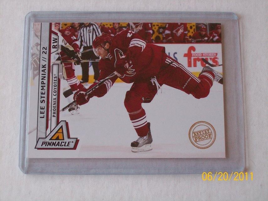 2010-11 Pinnacle Hockey - Artist Proof Parallel #52 - Lee Stempniak