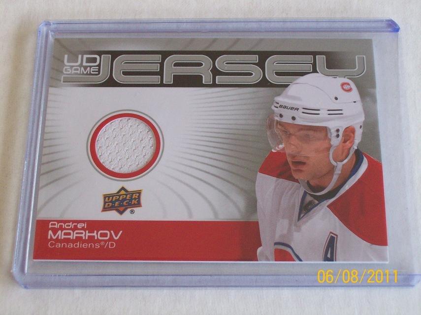 2010-11 Upper Deck Hockey Series 2 - Game Jersey #GJ2-AM - Andrei Markov