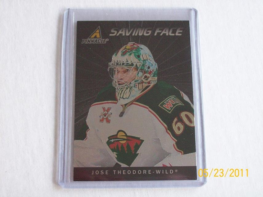 2010-11 Pinnacle Hockey - Saving Face #10 - Jose Theodore