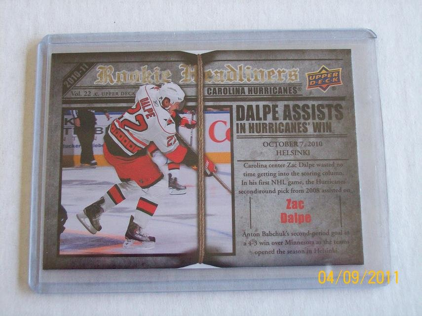 2010-11 Upper Deck Hockey Series 2 - Rookie Headliners #RH7 - Zac Dalpe