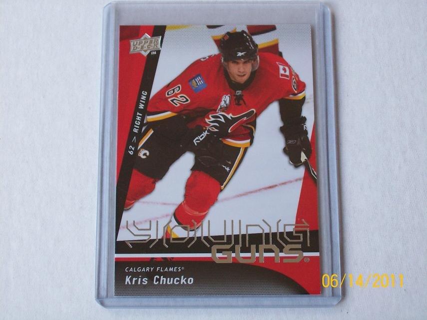 2009-10 Upper Deck Hockey Series 1 - Young Guns #242 - Kris Chucko
