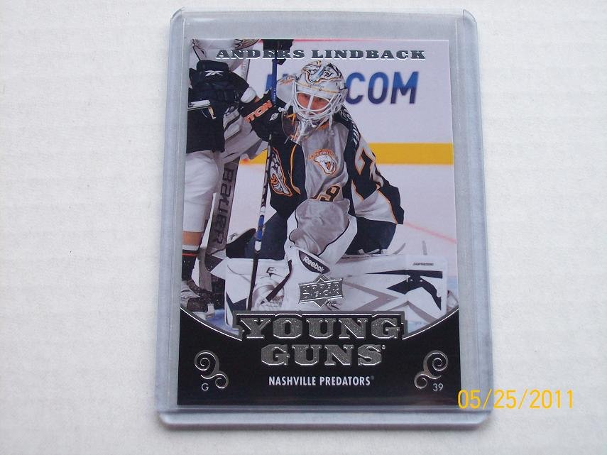 2010-11 Upper Deck Hockey Series 1 - Young Guns #234 - Anders Lindback