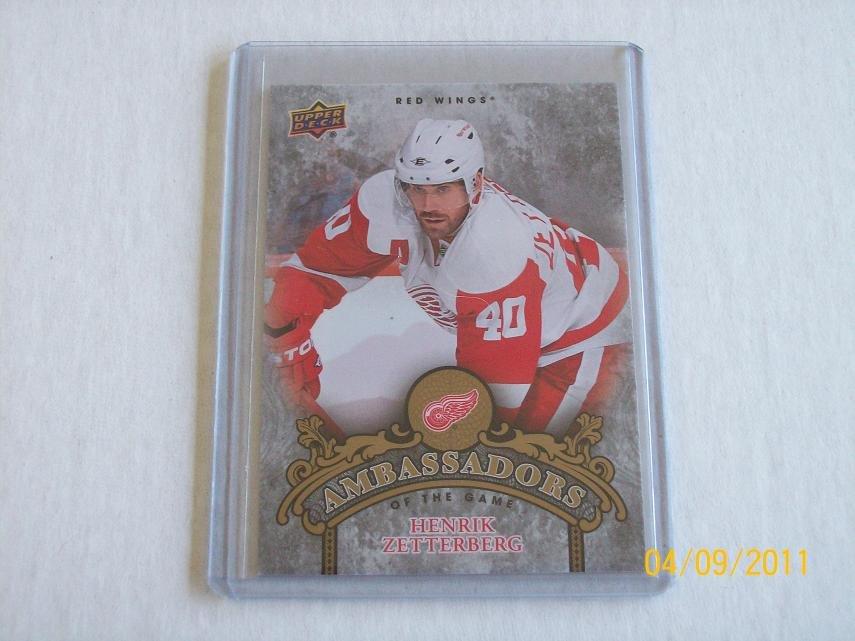 2010-11 Upper Deck Hockey Series 2 - Ambassadors of the Game #AG41 - Henrik Zetterberg