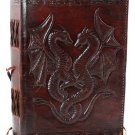 Double Dragon Leather Blank Book - BBBCD57