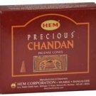 HEM Precious Chandan 10 incense cones - ICHPC