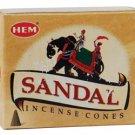 HEM Sandal Incense Cones - ICHSD