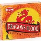HEM Dragon's Blood 10 incense cones - ICHDB