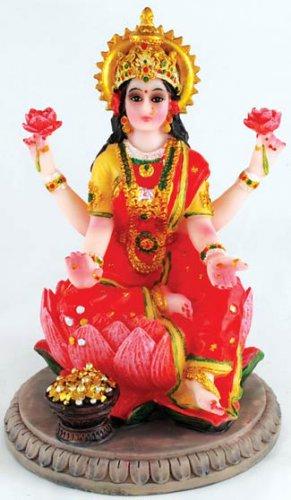 """Laxmi on Lotus Statue 5"""" - SLL5"""