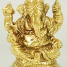 "Ganesh Sitting Brass 3"" - SG975"