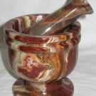 Green Onyx mortar and pestle set - LMORG4
