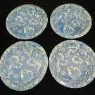 4 Oriental porcelain blue decorated bowls