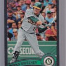 2011 TOPPS  2 Black #ed 45/60  Ryan Sweeney #493