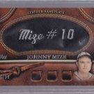 ==  2011 Topps 2 BLACK Nameplate Johnny Mize #49/99