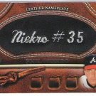 ==  2011 Topps 2 BLACK Nameplate Phil Niekro  #84/99