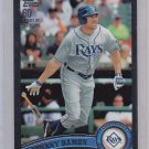 2011 Topps Black Johnny Damon #466 Serial  # 24/60