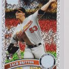 #418 Zach Britton RC = 2011 Topps Series 2 Diamond Parallel