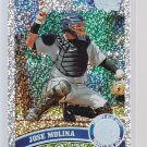 #414 Jose Molina = 2011 Topps Series 2  Diamond Parallel