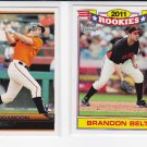 2 rookie cards = 2011 Topps Lineage #162 & #11 BRANDON BELT RC