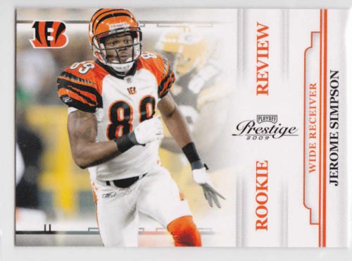 2009 Playoff Prestige JEROME SIMPSON  Make offers = we sell cards (stk#ft 10)