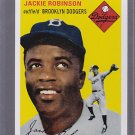 2011 60 Years of Topps Original Back - Jackie Robinson