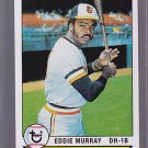 2011 TOPPS 60 YEARS of  TOPPS EDDIE MURRAY oringinal back.