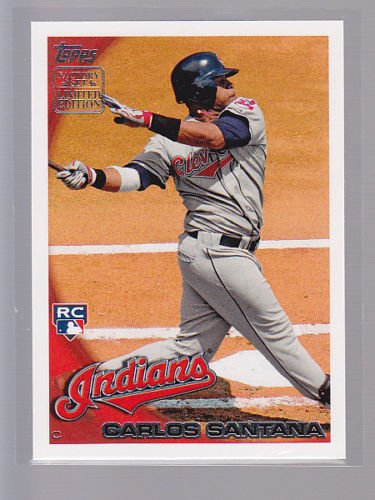 """Rare single , Carlos SANTANA  2010 TOPPS """"Limited Edition""""  RC5  , tough to find"""