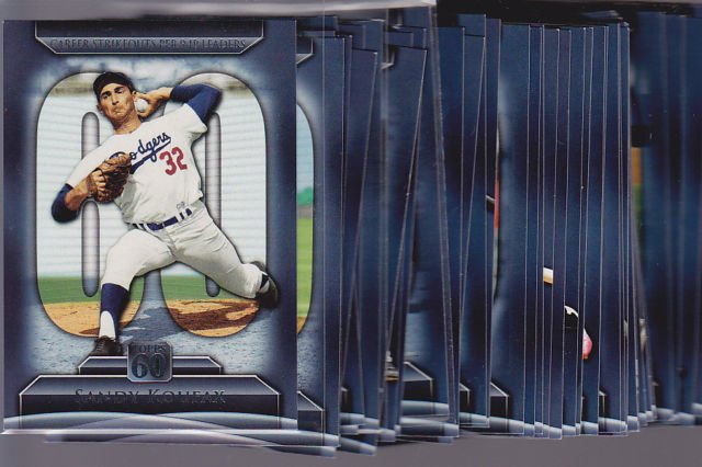 2011 Topps series 2 =  TOPPS 60 insert set (50 cards) Tought set to put together