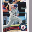 2011 Topps Series 2 CLEVELAND INDIANS team set of 12 cards.