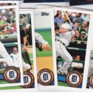 2011 Topps Series 2 DETROIT TIGERS team set (13) HOT!