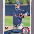 5 Card lot = 2011 Topps MASON TOBIN Rookie #343    RANGERS