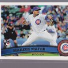 5 Card lot = 2011 Topps MARCUS MATEO Rookie #431  CUBS