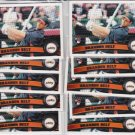 10 Card lot of   2011 Topps  Brandon BELT Rookie #605 =  10 Belt true rookies!