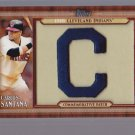 + 2011 Topps Commemorative Patch Carlos Santana + PLUS + INDIANS TEAM SET!