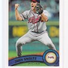 Super Sale  2011 Topps 2 Variation JOHN SMOLTZ   #600 SP = Case Hit 1 per case
