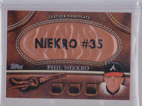 2011 Topps Series 2 Leather Nameplate PHIL NIEKRO  HOF