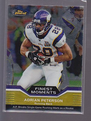 2011 Topps Finest ADRIAN PETERSON Moments SP VIKINGS   *stk0483