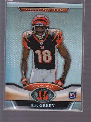 A.J. Green 2011 Topps Platinum Rookie Card #13 Cincinnati   *stk0472