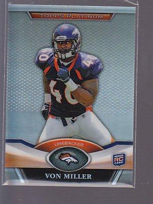 2011 Topps Platinum ROOKIE   #27 Von Miller   BRONCOS   *stk0471