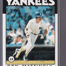 2011 TOPPS 60 years of Topps  60YOT-94 Don Mattingly
