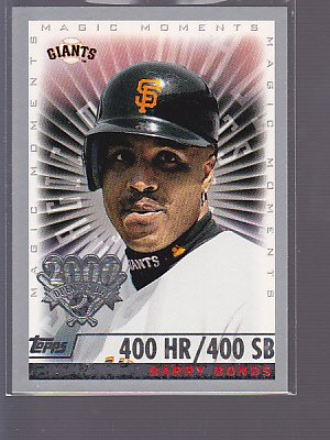 2000 TOPPS OPENING DAY #161 BARRY BONDS   __stk0255
