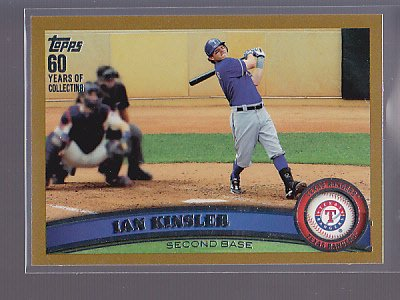 2011 Topps GOLD  #/2011   Ian Kinsler   #405                    *stk0141