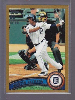 2011 Topps GOLD #781/2011  345 Austin Jackson                          *stk0140