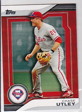 2011 Topps Red Ruby THP7 Chase Utley Target Rare --bb0089