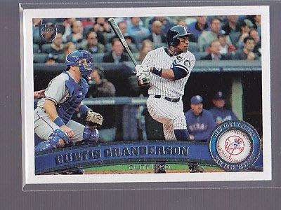 2011 TOPPS Curtis GRANDERSON  rare Retro Brown Back exclusive ______  (stkbb14)