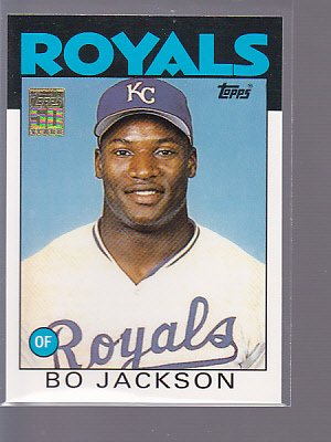 2001 Topps BO JACKSON #50T Royals Reprint #20 ___________ (stkbb2)